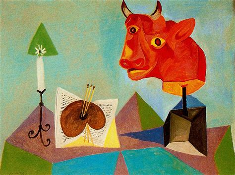 picasso paintings bull candle palette of bull pablo picasso
