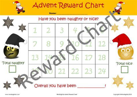 Reward Calendar Activity Advent Calendar Mindingkids