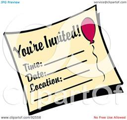 royalty free rf clipart illustration of a you re invited birthday invitation by andy