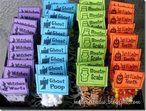 Snack Goodie Bag Label 25 spooktacular ideas
