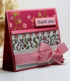thank you card greeting card handmade card stin up ooak handmade cards cards