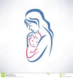 mother and son symbol stock photo image 36915990