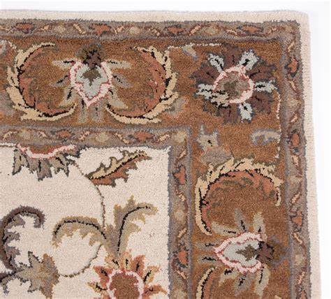 Carpet One Area Rugs One Of A Traditional Tufted Wool Area Rug Carpet 5x8 Ivory Brown Gold