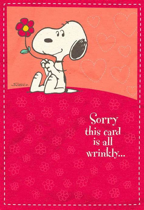 Hugs In The Mail Peanuts Snoopy Sweetest Day Card