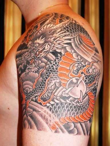 quarter sleeve tattoo art quarter sleeve tattoo inspiration japanese dragon quarter