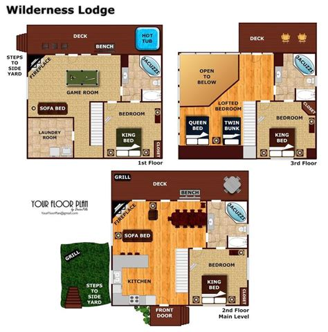 Wilderness Lodge Floor Plan | wilderness lodge pigeon forge cabin american patriot