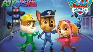 pj masks paw patrol transformation catboy owlette gekko turns skye rubble chase