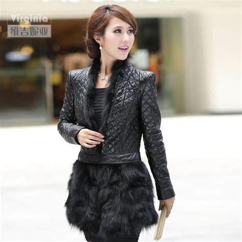 0344 Hem Winter Boy autumn winter real sheepskin leather coat with fox fur hem s fur outerwear