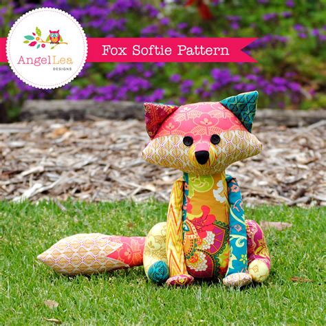 Patchwork Toys Free Patterns - fox softie pattern pdf sewing pattern for stuffed animal