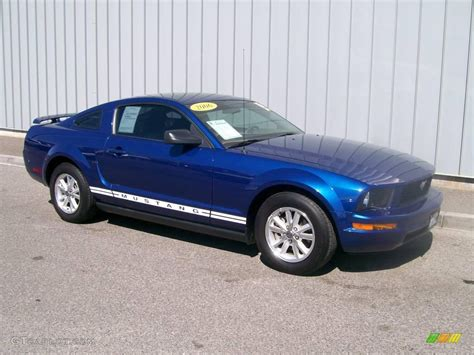 2006 vista blue metallic ford mustang v6 premium coupe