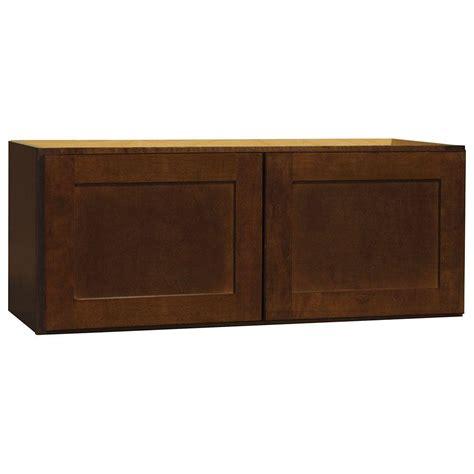 assembled 30x12x12 in wall bridge kitchen cabinet in hton bay assembled 30x12x12 in shaker wall bridge