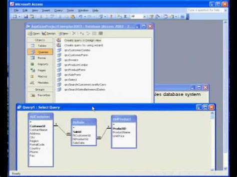 microsoft access 174 2003 sales invoice 2 query youtube