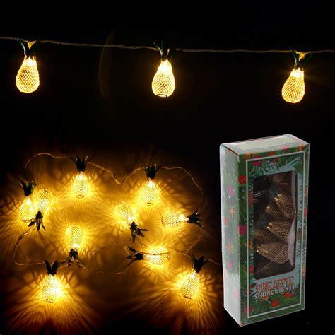 Decorative Led Light Golden Pineapple String 14284 Decorative Led String Lights