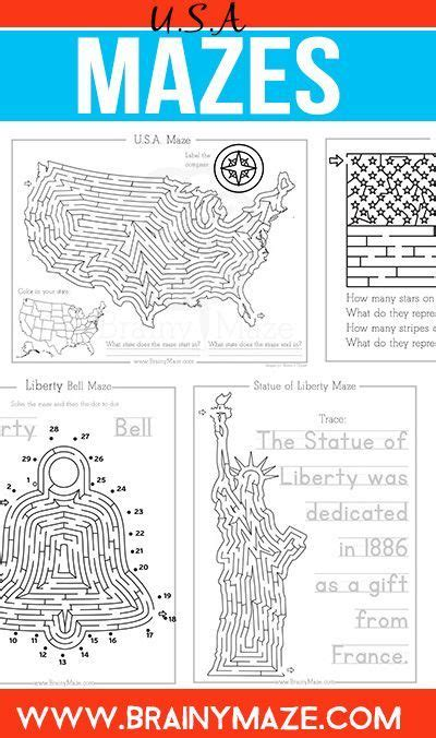 printable geography maze free usa mazes and activity pages for kids perfect for