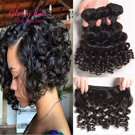pictures of brazillian spiral weave hair brazilian afro kinky curly hair short weave hair 3 bundles