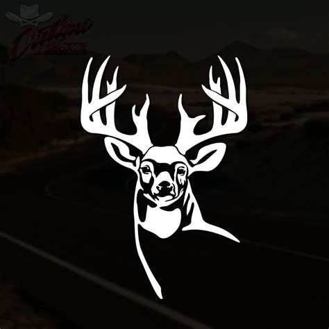 Auto Decals Hunting by Whitetail Deer Decal Buck Hunting Truck Window Vinyl