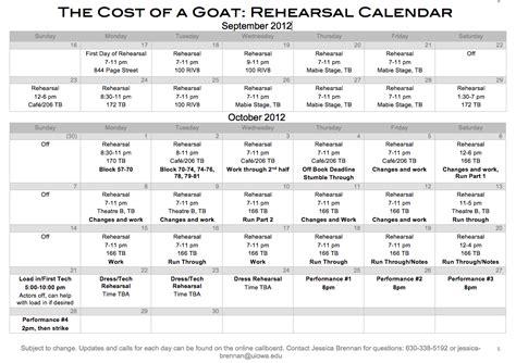 cost of a goat rehearsal schedule theatre arts uiowa wiki