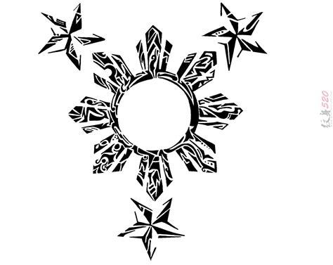 layout artist in tagalog 黑灰素描创意文艺太阳和星星纹身手稿