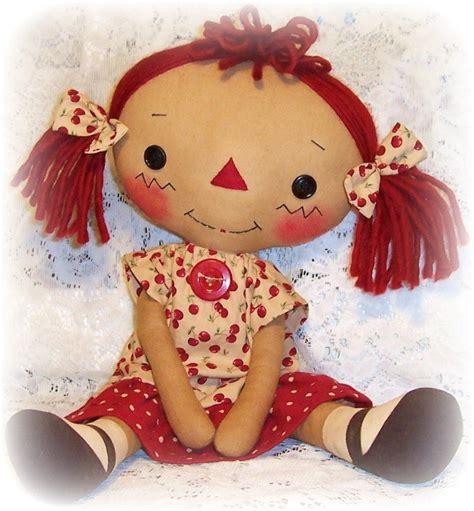 design rag doll primitive doll pattern raggedy ann pattern cloth doll