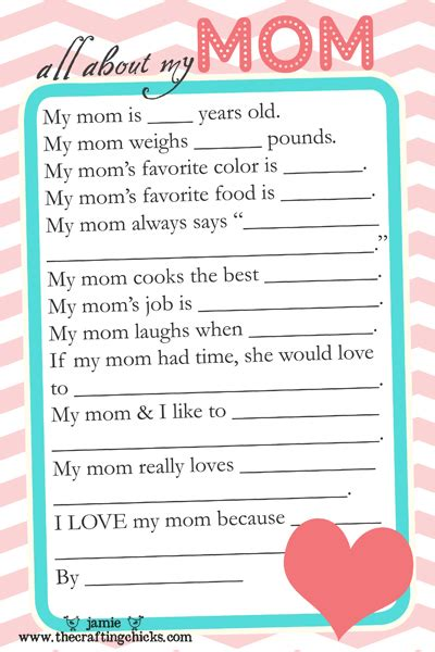 mother s day questionnaire free printable download the
