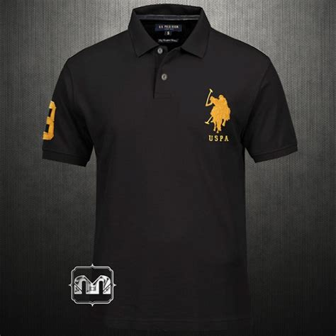 design your t shirt egypt us polo assn black polo tshirt with embroidered logo on