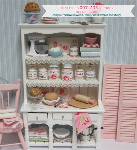 dollhouse zone cottages miniature and canisters on