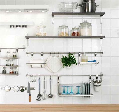 kitchen wall shelves 15 dramatic kitchen designs with stainless steel shelves