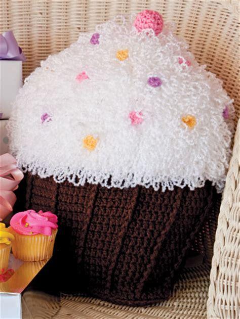 Cupcake Pillow Pattern by Crochet Patterns Cupcake Pillow