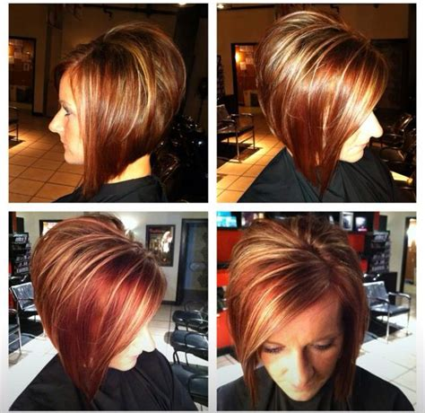 stacked bobs unique dye short hair align bob stacked fall hair color