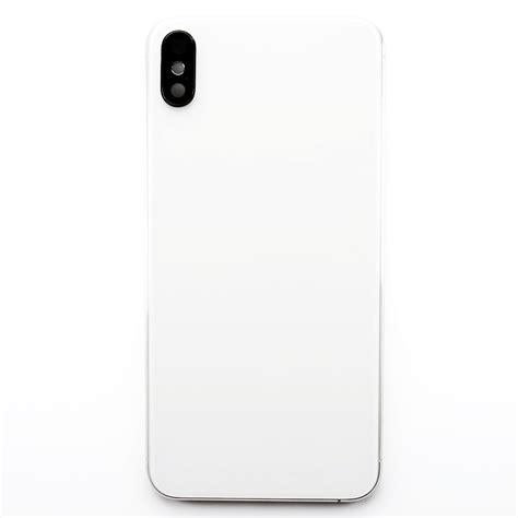 frame with back glass for use with iphone xs max white iphone xs max iphone parts by model