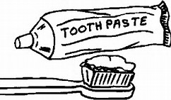 coloring page of toothbrush and toothpaste image download