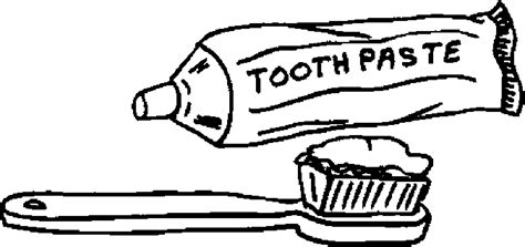 free coloring pages of toothpaste