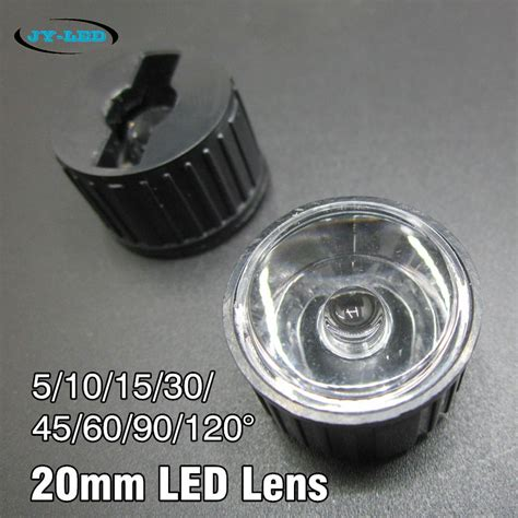 aliexpress buy 20x 20mm led optical lens with white
