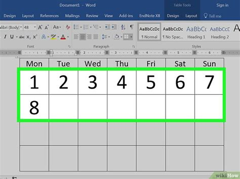 how to make calendar for een kalender maken in word wikihow