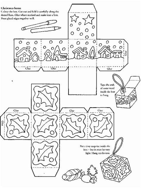 christmas boxes printable  templates pinterest
