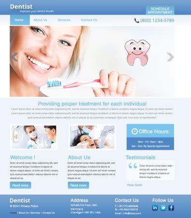 Free Dentist Wordpress Template Free Templates Online Dentist Website Template