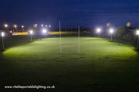 portable sports field lighting portable football floodlights ritelite portable lighting