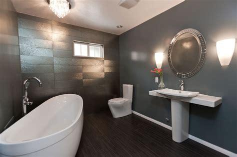 Master Badezimmerideen by Modern Gray Bathroom Remodel Eclectic Bathroom Los
