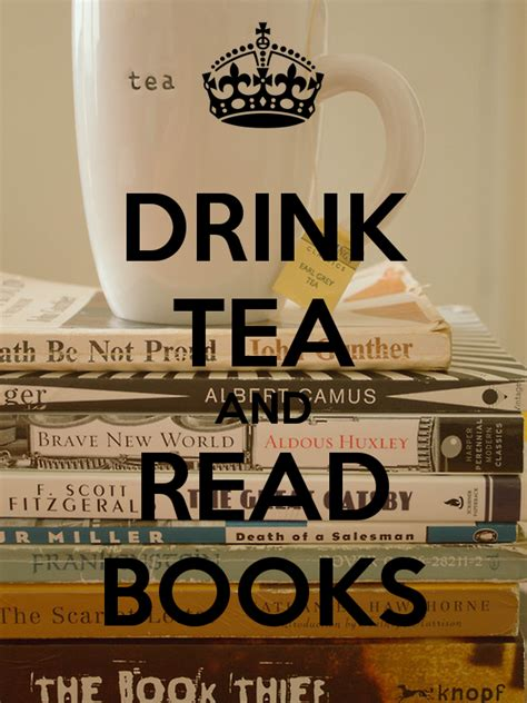 kaos drink tea and read books drink tea and read books poster mitchell keep calm o matic