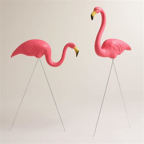 pink flamingo lawn ornaments pink flamingo lawn ornaments 2 pack world market