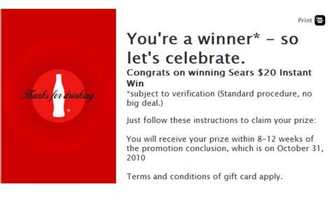 My Coke Rewards Sweepstakes Winners - my coke rewards instant win games