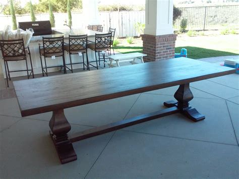 Outdoor Trestle Table by Crafted Outdoor Trestle Table By Santini Custom