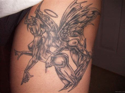 angel and demon tattoo tattoos designs pictures