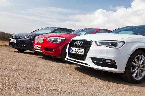 Bmw 1er Oder Golf 7 by Erster Vergleich Audi A3 Gegen Bmw 1er Und Vw Golf