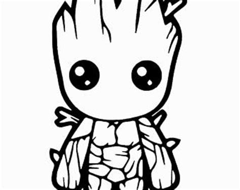 baby marvel coloring pages baby groot decal etsy