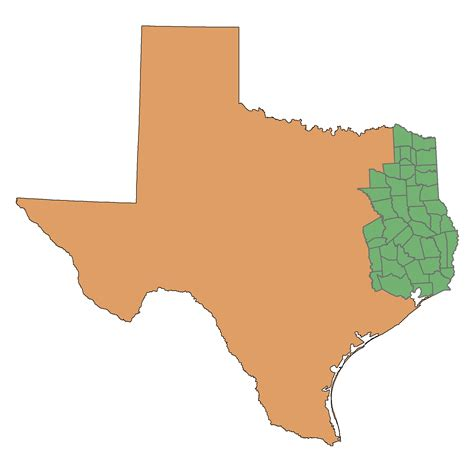 east texas counties map 1 4 introduction east texas forests