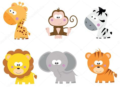 imagenes animales safari colecci 243 n de lindos dibujos animados de peque 241 os animales