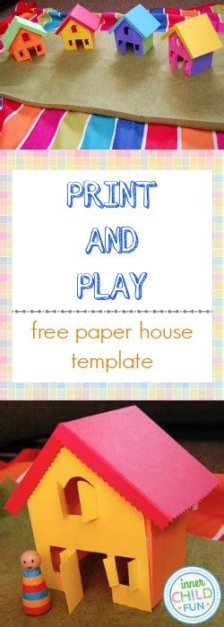 play card board template free paper house template print and play inner