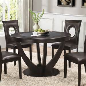 Cappuccino Dining Room Furniture Collection Stapleton Cappuccino Round Dining Room Set 106741