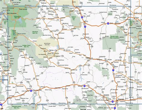 wyoming road map map of wyoming outravelling maps guide